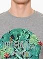 Jack & Jones Baskılı Tişört Gri